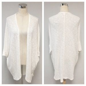 ➕ Mossimo White Knit Duster Cardigan Sweater 8U